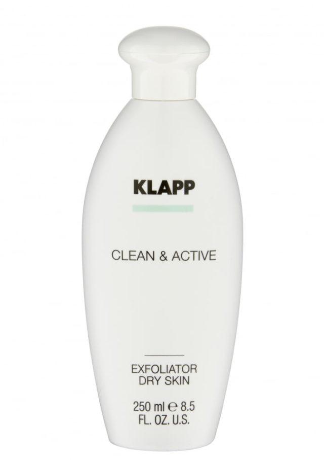 Эксфолиатор для сухой кожи / KLAPP CLEAN&ACTIVE Exfoliator Dry Skin 250 мл
