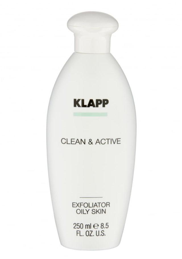 Эксфолиатор для жирной кожи / KLAPP CLEAN&ACTIVE Exfoliator Oily Skin 250 мл