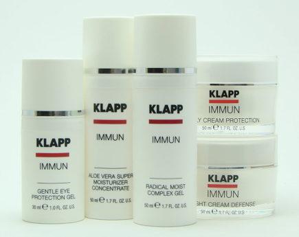Питательная увлажняющая процедура на косметике KLAPP IMUNN