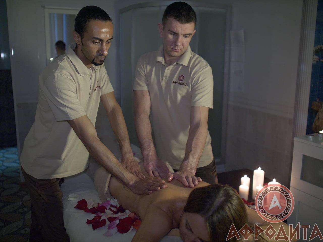 Классический массаж в 4 руки в спа центре Афродита
